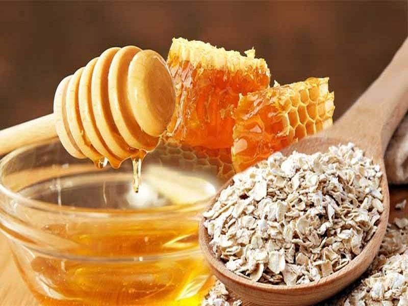 овсянка и мёд